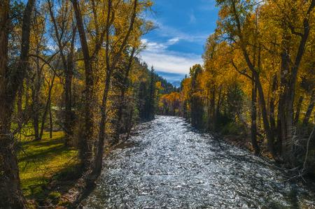 Crystal River Colorado Gunnison County Autumn Colors photo