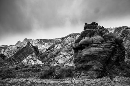 escalante: Black and White Landscape Utah Cottonwood Canyon Road Escalante