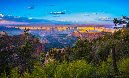 rims: Grand Canyon North Rim Beautiful Sunset Sky
