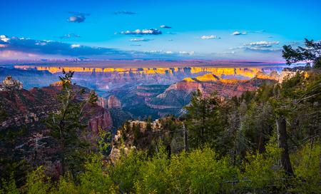 grand canyon: Grand Canyon North Rim Beautiful Sunset Sky