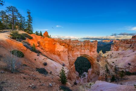 paria canyon: Natural Bridge at Sunset Bryce Canyon National Park Utah