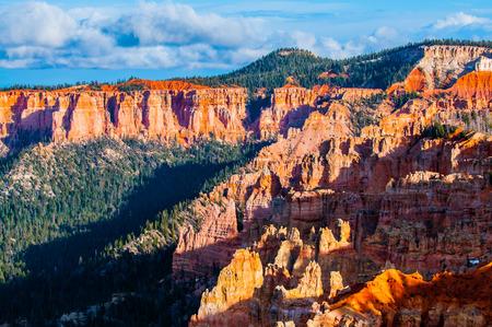 hoodoos: Bryce Canyon Hoodoos at sunset close-up background pattern
