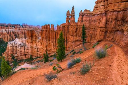peekaboo: Looking down a winding Peek-a-boo loop trail Bryce Canyon