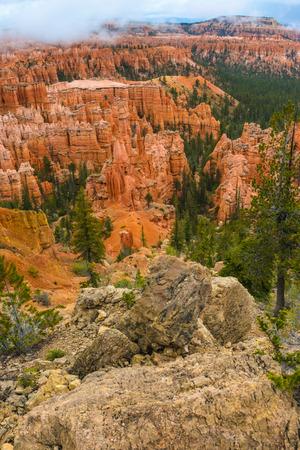 peekaboo: Thick Clouds over Bryce Canyon Peekaboo loop trail