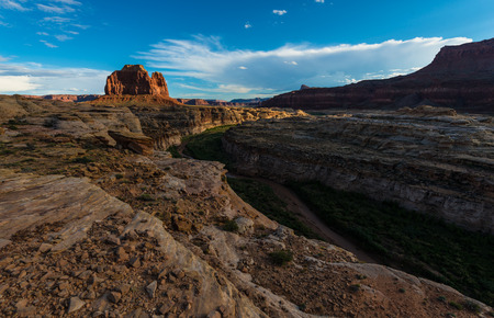 glen: Beautiful Glen Canyon Basin at lid by Sunset light