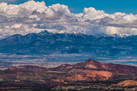 henry: Henry Mountains Utah Landscape Horizontal Composition