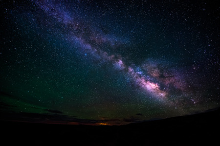 outerspace: Beautiful Milky Way with a moon rise