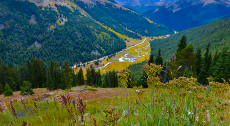 colorado landscape: View from the Independence Pass, Colorado Landscape