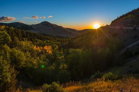 nederland: Colorado Autumn Sunrise taken near Nederland CO