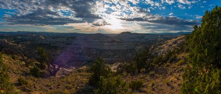 escalante: View From the top of the Hogs Back Escalante Utah Stock Photo