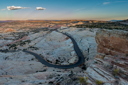public works: Scenic Byway Utah Route 12 Escalante to Boulder and The Hogback View  from Head of the Rocks Overlook Stock Photo
