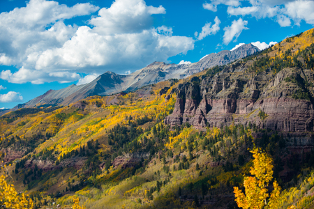 ouray: Looking down the Black Bear Pass Towards the Telluride Fall Colors Colorado Landscape