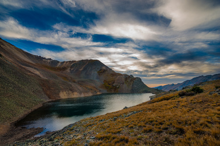 ouray: Crystal Lake, at the top of 11,789 foot Ophir Pass, Stock Photo