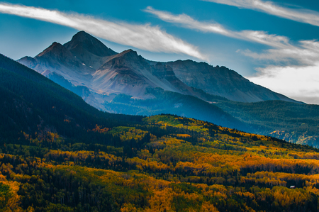 San Juan Mountains. Landscape of Wilson Peak on an autumn afternoon