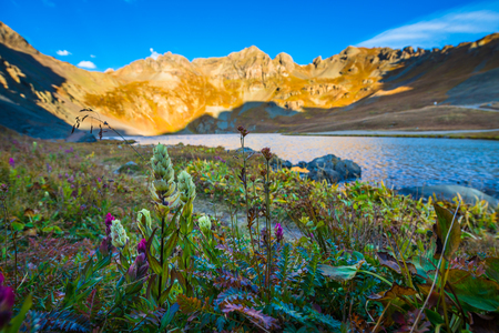 Sunrise at Clear Lake near Silverton San Juan Mountains Colorado landscape USA