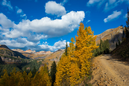 ouray: Peak of the fall Beautiful Autumn Colors Colorado Landscape San Juan Mountains USA