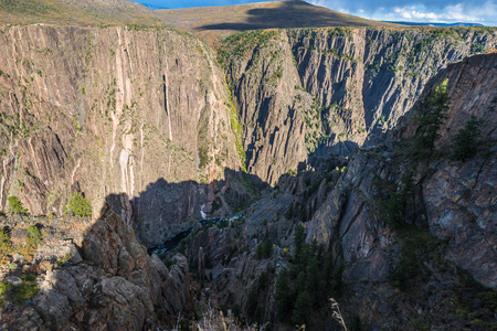 point of view: Gunnison Point View from Rim Rock Trail Black Canyon Colorado Stock Photo