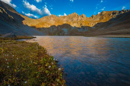 colorado landscape: Sunrise at Clear Lake near Silverton San Juan Mountains Colorado landscape USA