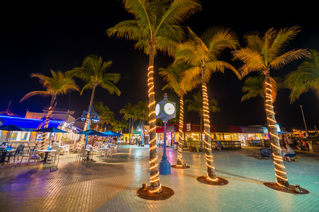 Time Square Estero Island Downtown Fort Myers Beach Florida USA Editorial