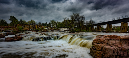 sioux: Falls Park - Sioux Falls South Dakota United States Landscapes