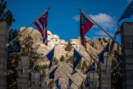 thomas stone: Grand View Terrace, the Avenue of Flags display