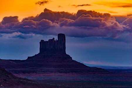 butte: Castle Butte Monument Valley Arizona USA Famous Landmarks