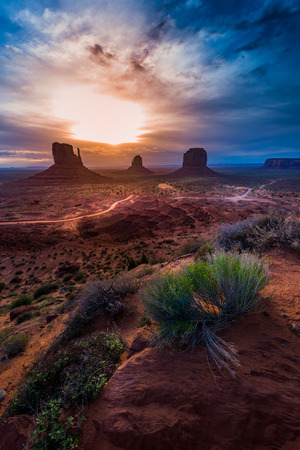 Monument Vally at Sunrise Famous USA Landscapes American Southwest Arizona