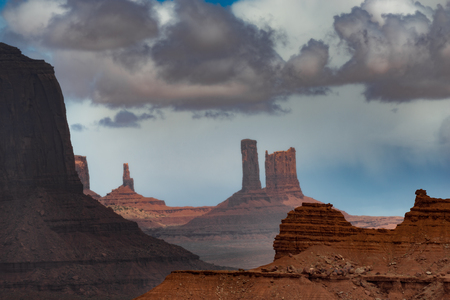 john wayne: View from John Ford Point Monument Valley Stock Photo