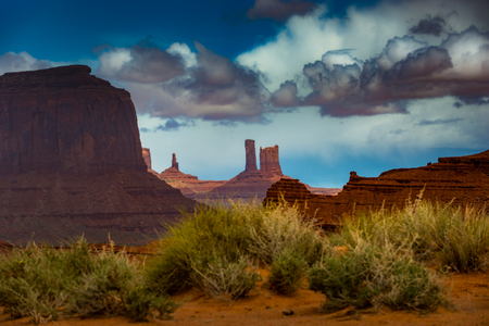 monument valley view: View from John Ford Point Monument Valley Stock Photo