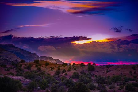 escalante: Utah Landscape Escalante National Park after Sunset Stock Photo