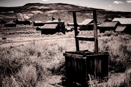 vintage look: Bodie Ghost Town Intentional Noise added for Vintage Look Stock Photo