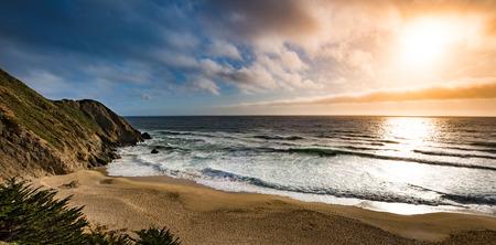 gray whale: Gray Whale Cove State Beach California Landscape