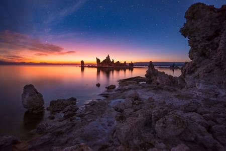 mono: Beautiful Calm Sunrise at Mono Lake California