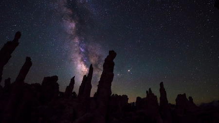 mono: Milky Way rising over Tufa Towers Mono Lake California