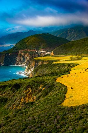 monterey: Big Sur Coast at the Bixby Creek Bridge, Monterey County, California, USA.