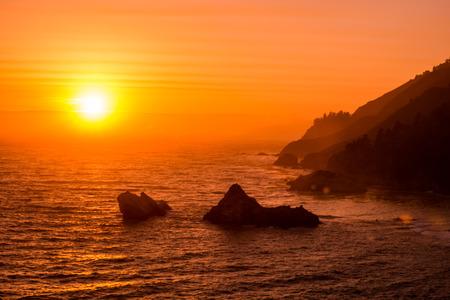 McWay Rock at Sunset California Big Sur Landscape