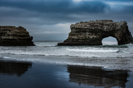 santa cruz: Natural Bridges State Beach Santa Cruz California USA Stock Photo