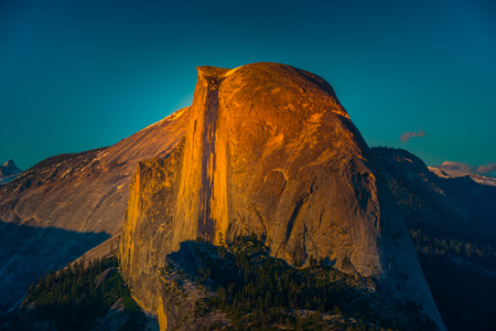 Half Dome at Sunset Glacier Point Yosemite National Park California Stock Photo