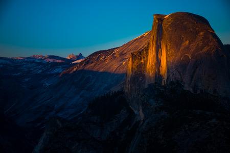sierra nevada: Half Dome at Sunset Glacier Point Yosemite National Park California Stock Photo