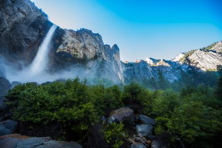 bridalveil fall: Bridalveil Falls Yosemite National Park California, USA