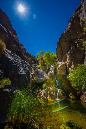 Darwin Falls, Waterfall in Death Valley National Park California USA Stock Photo