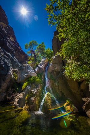 Darwin Falls, Waterfall in Death Valley National Park California USA Stock Photo