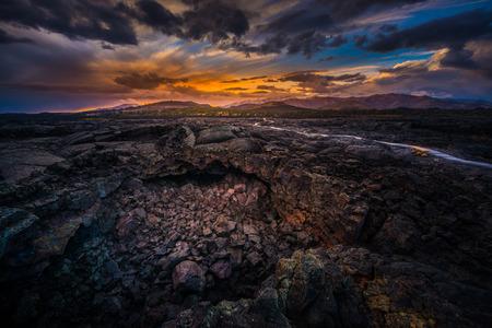 月国立保護区アイダホのクレーター