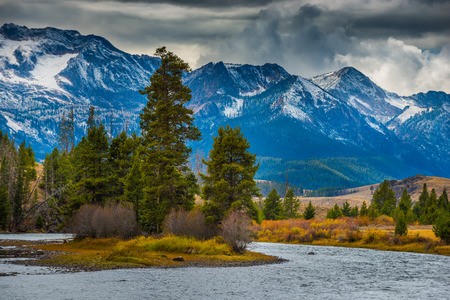 salmon falls: Salmon River Lower Stanley Idaho Sawtooth Range