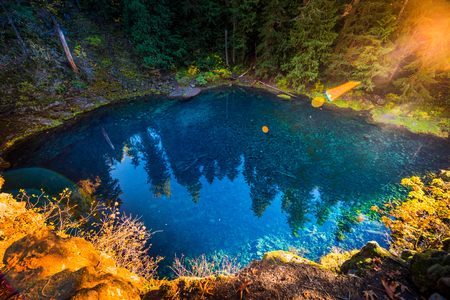 Tamolitch Blue Pool McKenzie River Oregon Cascade Mountain Range