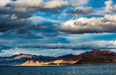 reno: Artillery Bay Pyramid Lake Nevada looking towards east