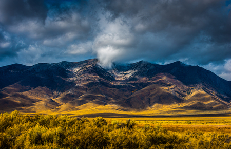Thick clouds over Ruby Mountains nevada