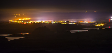 City of Page Arizona with Lake Powell at Night