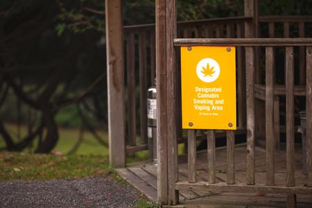 Legal Cannabis designated smoking area 版權商用圖片