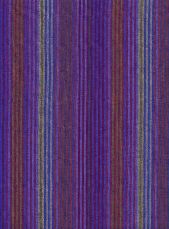 Red blue green and yellow Striped cotton fabric background.  Banco de Imagens